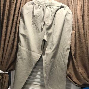 Women's cotton beige pants 22W
